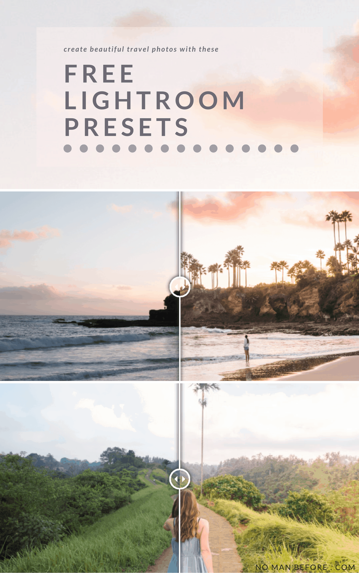 Need a little help making your photos pop? Download our Free Adobe Lightroom presets for travel photos! #travel #photography #preset #lightroom