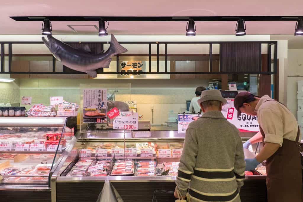 The Best Japanese Street Food in Tokyo's Shibuya Neighborhood | A Tokyo Food Tour with Arigato Food Tours | Exploring the expensive Food Hall below Shibuya Station