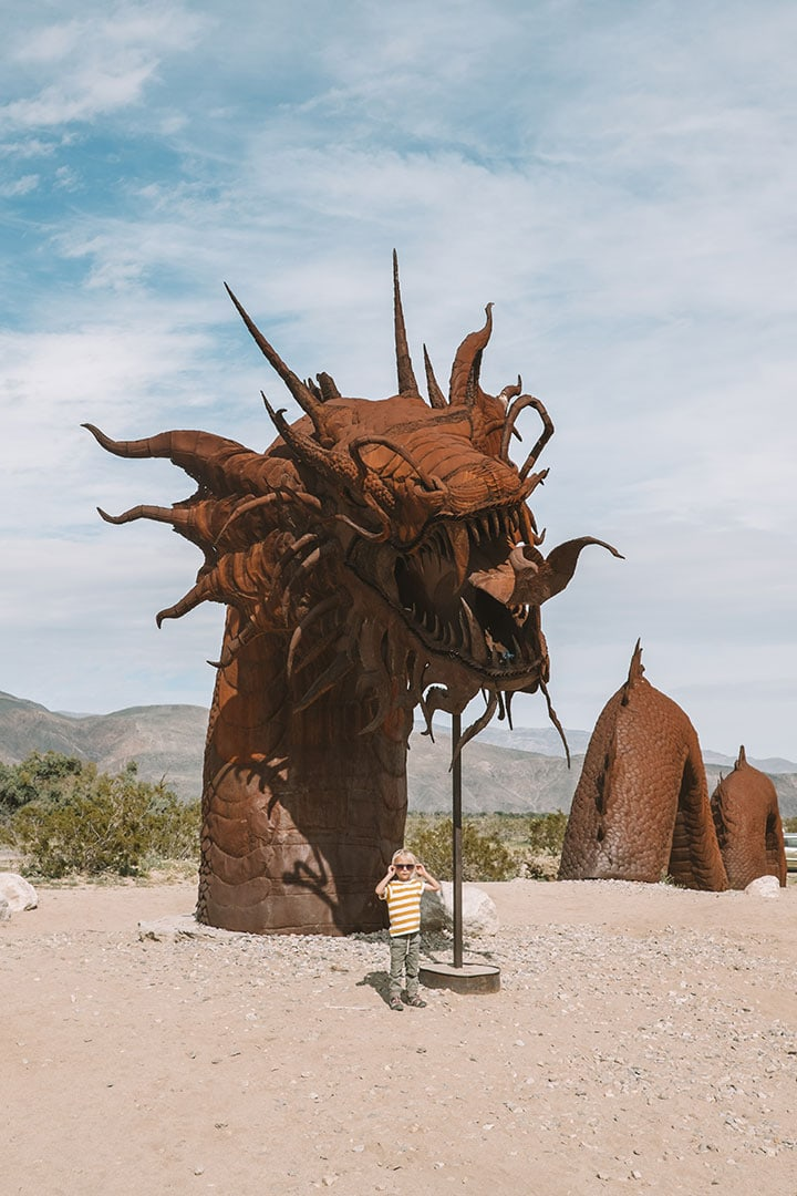 Serpent sculpture in Galleta Meadows, Anza-Borrego State Park, California