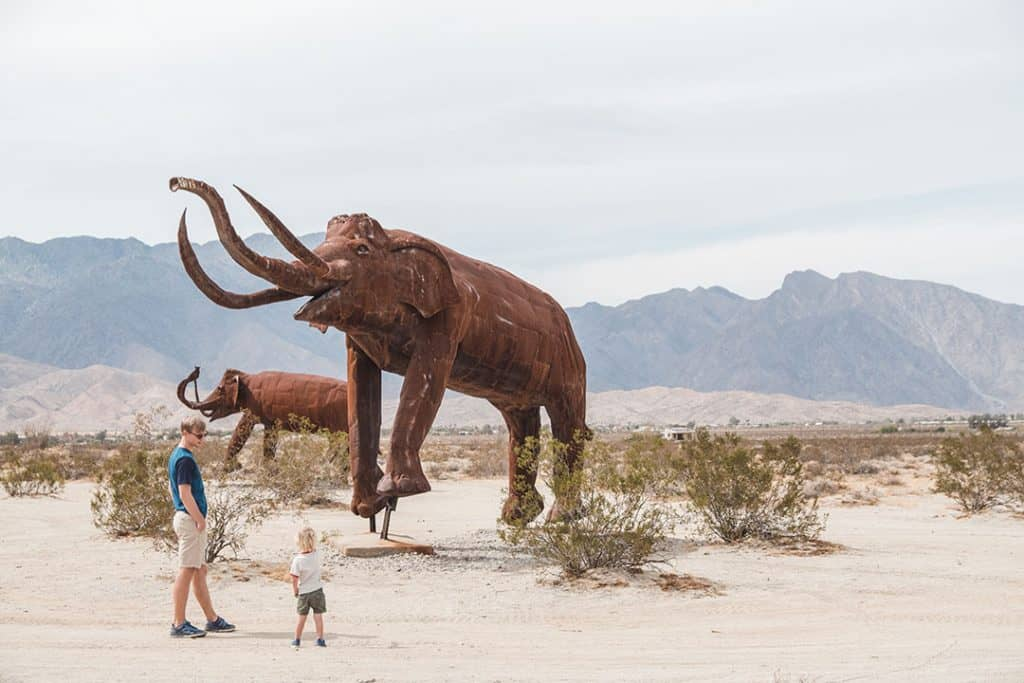 Galleta Meadow Statues Woolly Mammoth in Anza Borrego State Park