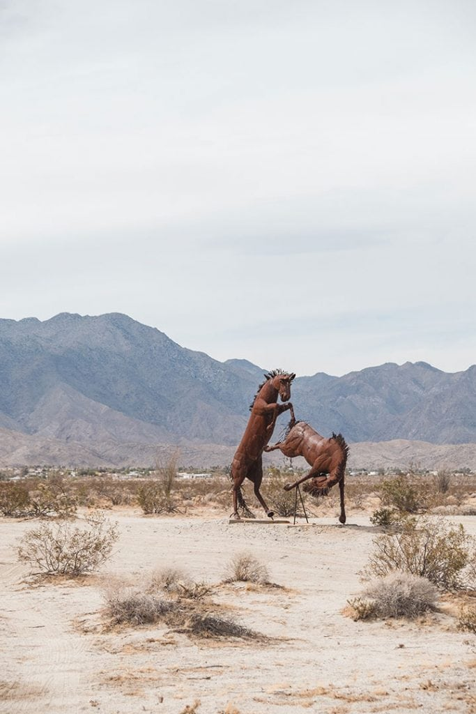 Galleta Meadow Statues Horses in Anza Borrego State Park