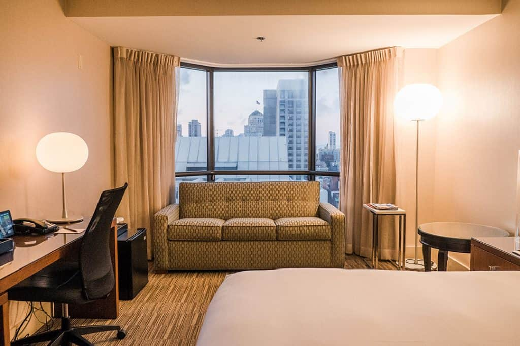 Stay near Union Square, right in the heart of San Francisco at the Parc 55 | Spacious room at the The Parc 55 San Francisco, A Hilton Hotel