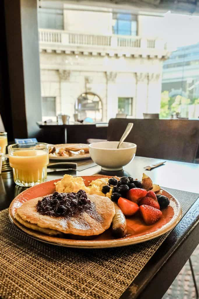 Stay near Union Square, right in the heart of San Francisco at the Parc 55 | Delicious breakfast buffet at the The Parc 55 San Francisco, A Hilton Hotel