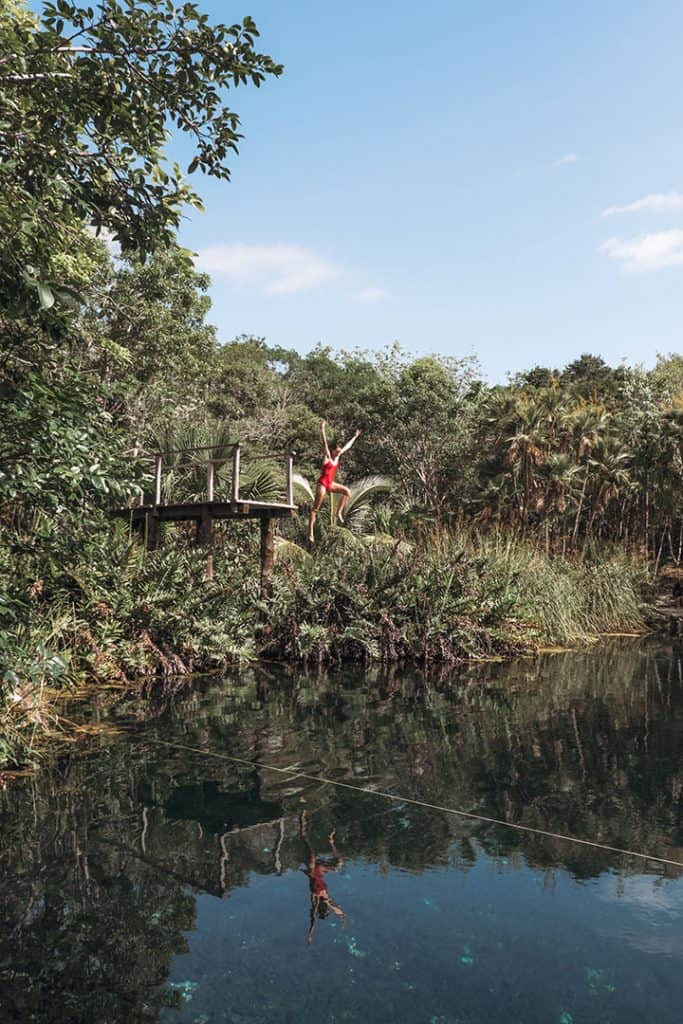 Diving in Cenote Cristal | Best cenotes near Tulum, Mexico