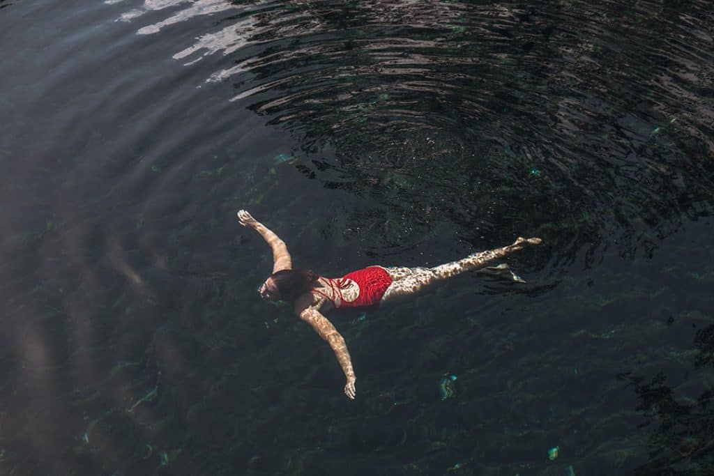 Swimming in Cenote Cristal | Best cenotes near Tulum, Mexico