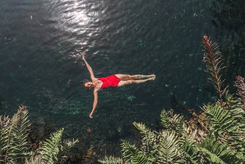 Swimming in Cenote Cristal | Best cenotes near Tulum, Mexico