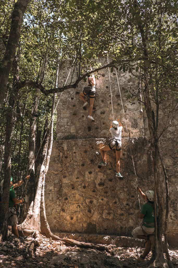 Rock climbing in Tulum | Sea Turtles, Cenotes and Ziplining: A High-Adventure Tulum Excursion with Edventure Tours Tulum