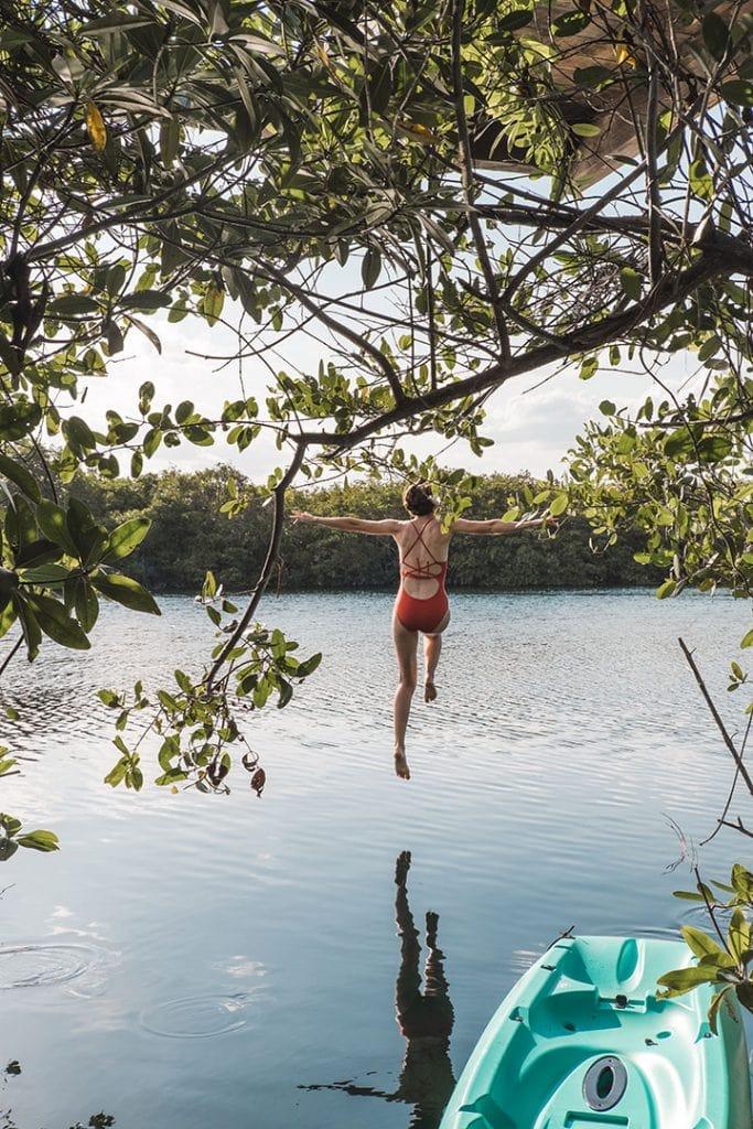 Diving into Nativus Glamping Tulum Cenote