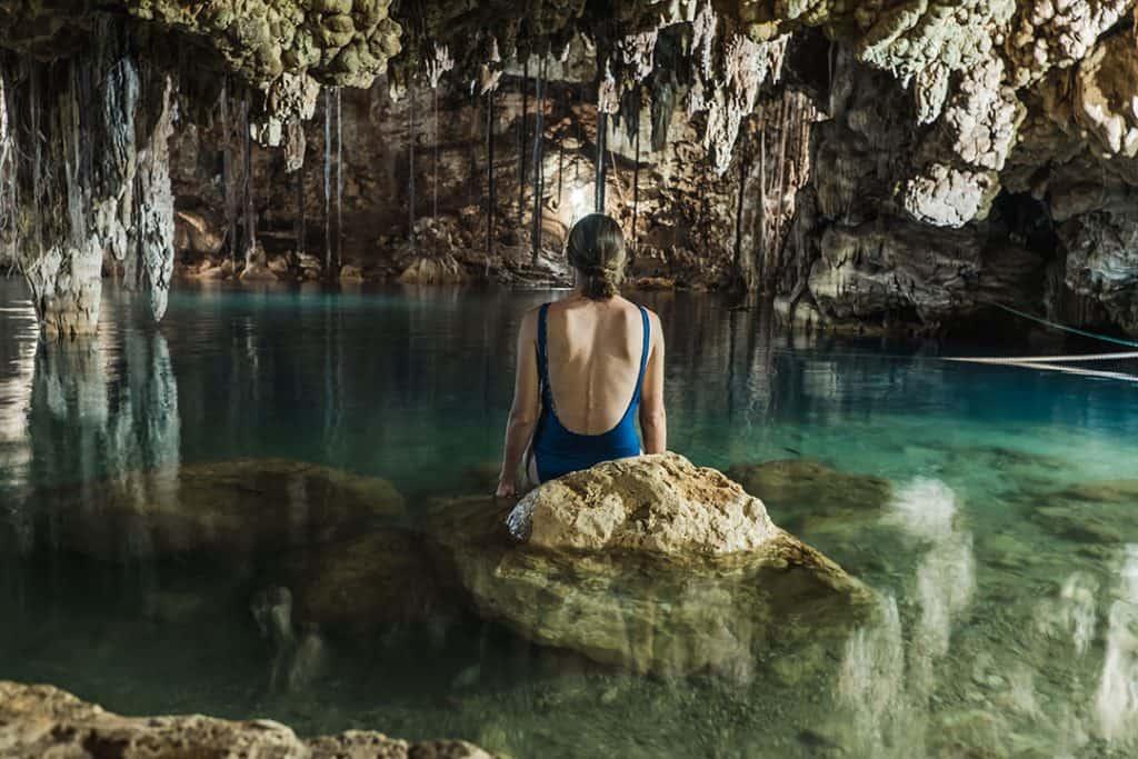 Cenote Xkeken near Valladolid Mexico