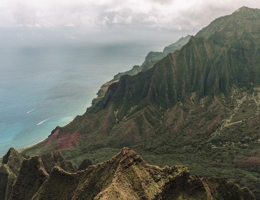 View of Na Pali Coast and Kalalau Valley