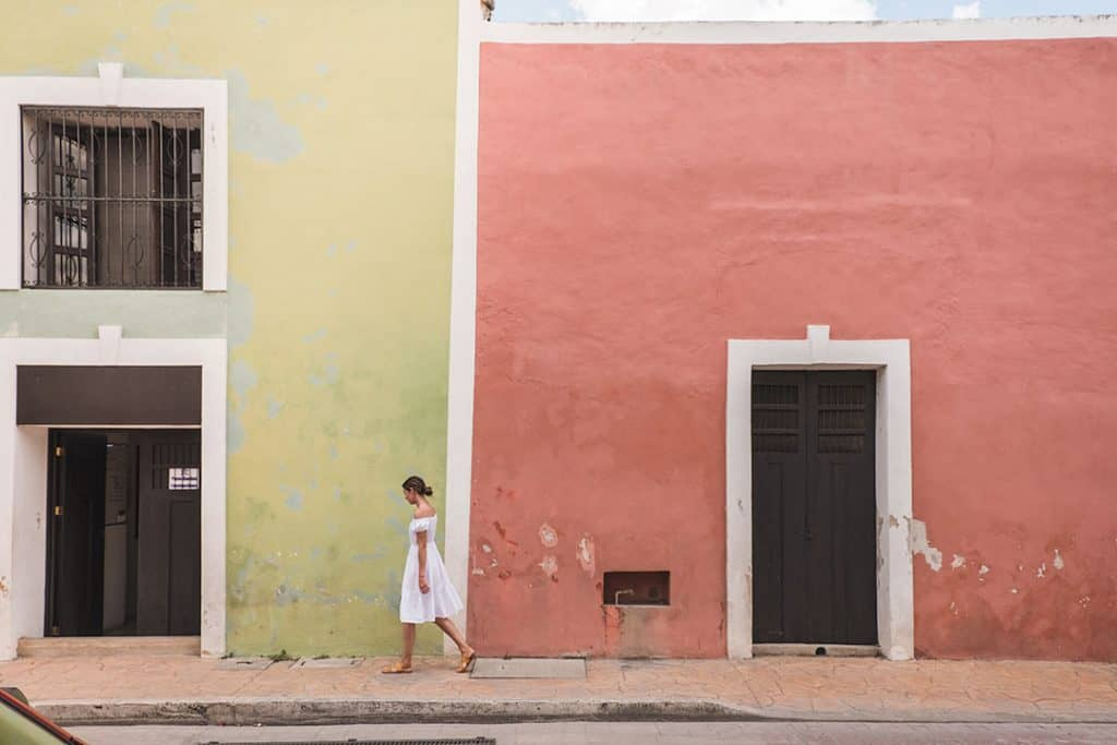 The colorful streets of Valladolid, Mexico