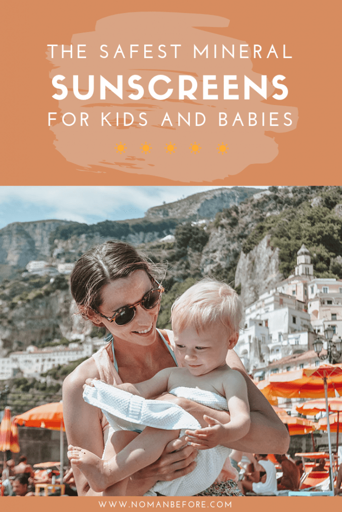 The Safest Mineral Sunscreens for Kids and Babies | We've researched and tested sunscreens to find the best natural sunscreens for kids and babies. These brands use don't use harmful chemicals; they use only non-nano zinc oxide, which is both effective and gentle. These mineral sunscreens are both good for kid's skin and the environment | #sunscreen #kids #babies #ecofriendly #mineral #natural