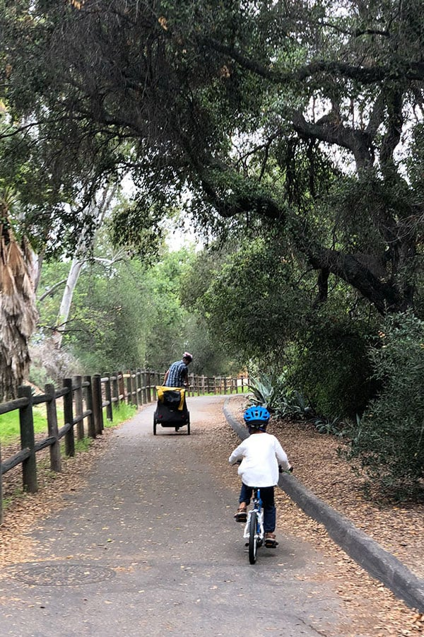 Riding bikes at Ojai Valley Inn in Ojai, California | Tips for booking the coolest rentals and camping spots in Southern California