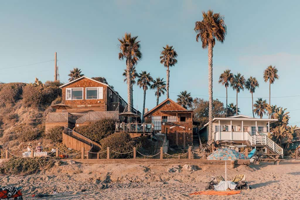 Historic Cottages in Crystal Cove State Park in Newport Beach, California