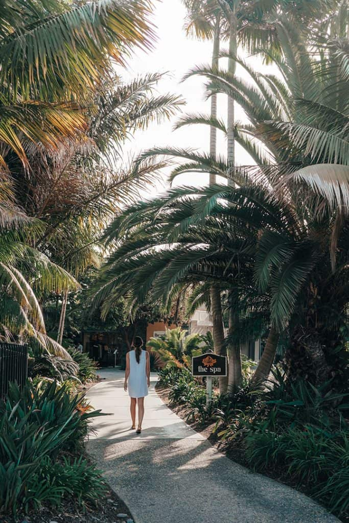 Heading to the Spa at the Paradise Point Resort & Spa in San Diego, California