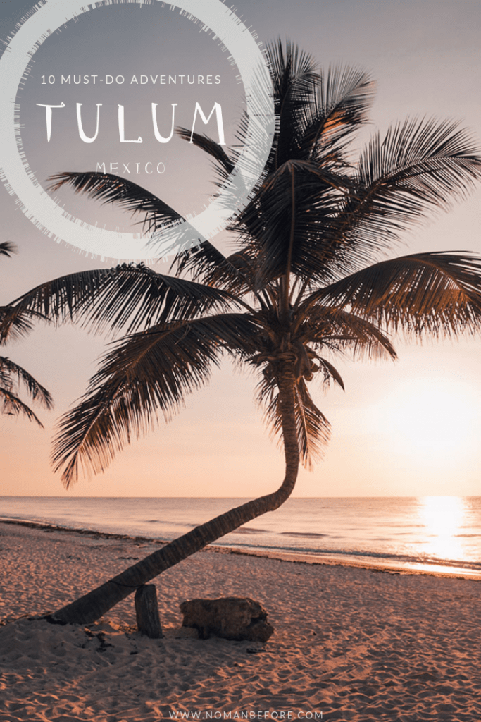 10 Must-Do Adventures in Tulum, Mexico | You could spend your time in Tulum, Mexico kicking back, relaxing and doing nothing but burying your toes in the powdery white sand and gazing out to the unreal shades of ocean blue. Or, you could explore incredible underground caves, SUP board through lagoons and mangrove forests, and zip line through the Mayan jungle. Don't miss the 10 best things to do in Tulum, Mexico | #tulum #mexico #travel #adventure #cenotes