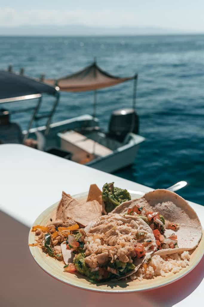 Delicious lunch on Marieta Island Tour with Ally Cat Sailing Adventures