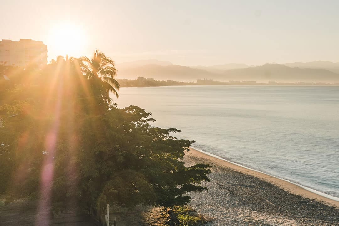 Sunrise over Banderas Bay in Riviera Nayarit, Mexico