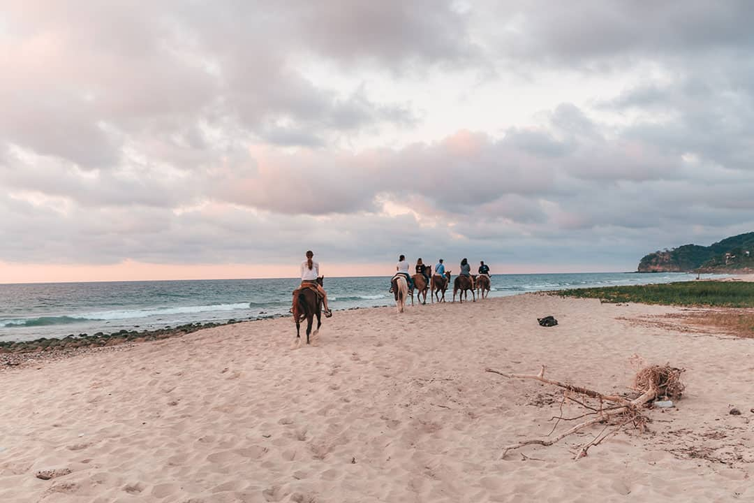 Horseback Riding on Litibú Beach in Riviera Nayarit, Mexico