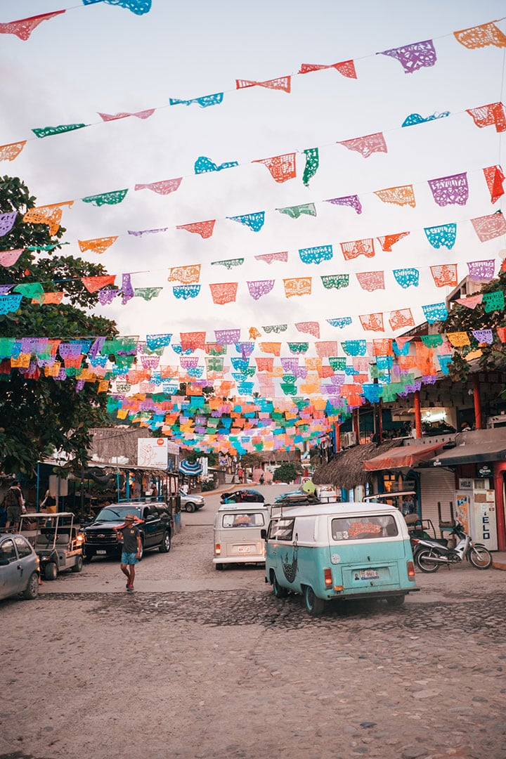 Exploring the colorful town of Sayulita in Riviera Nayarit, Mexico