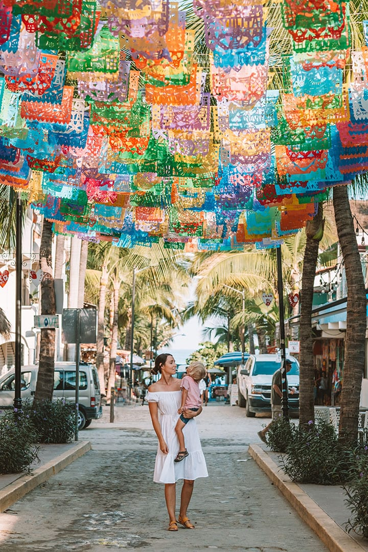 Colorful streets of Sayulita, Mexico | The Ultimate Riviera Nayarit Travel Guide