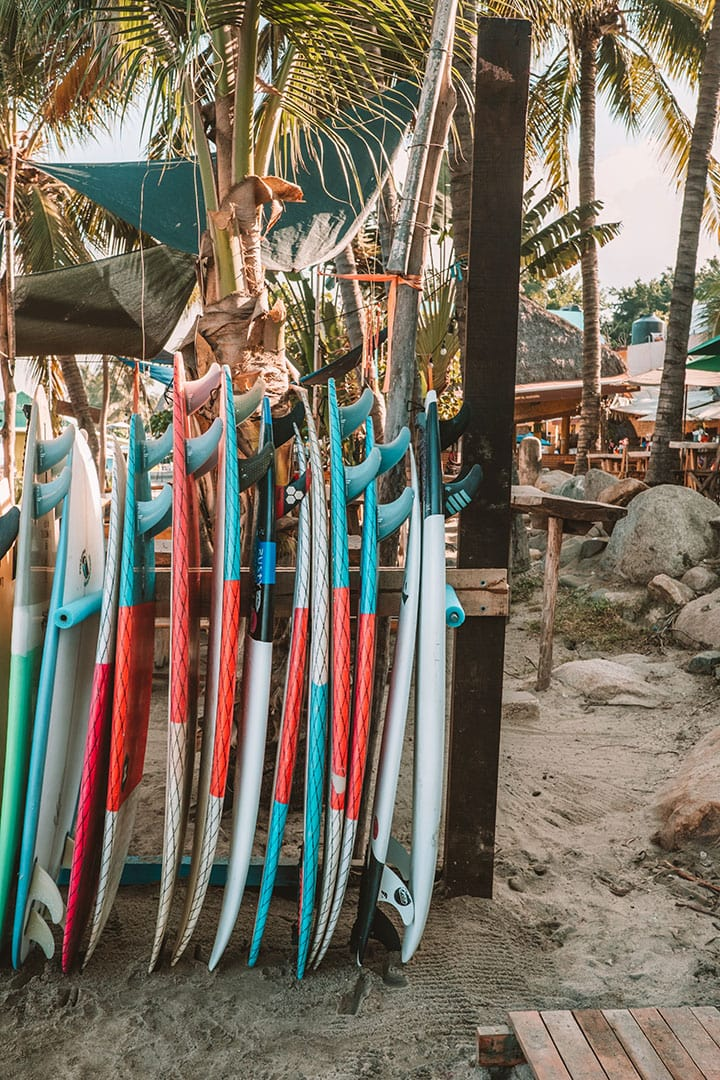Surfboards for rent in Sayulita, Mexico | The Ultimate Riviera Nayarit Travel Guide