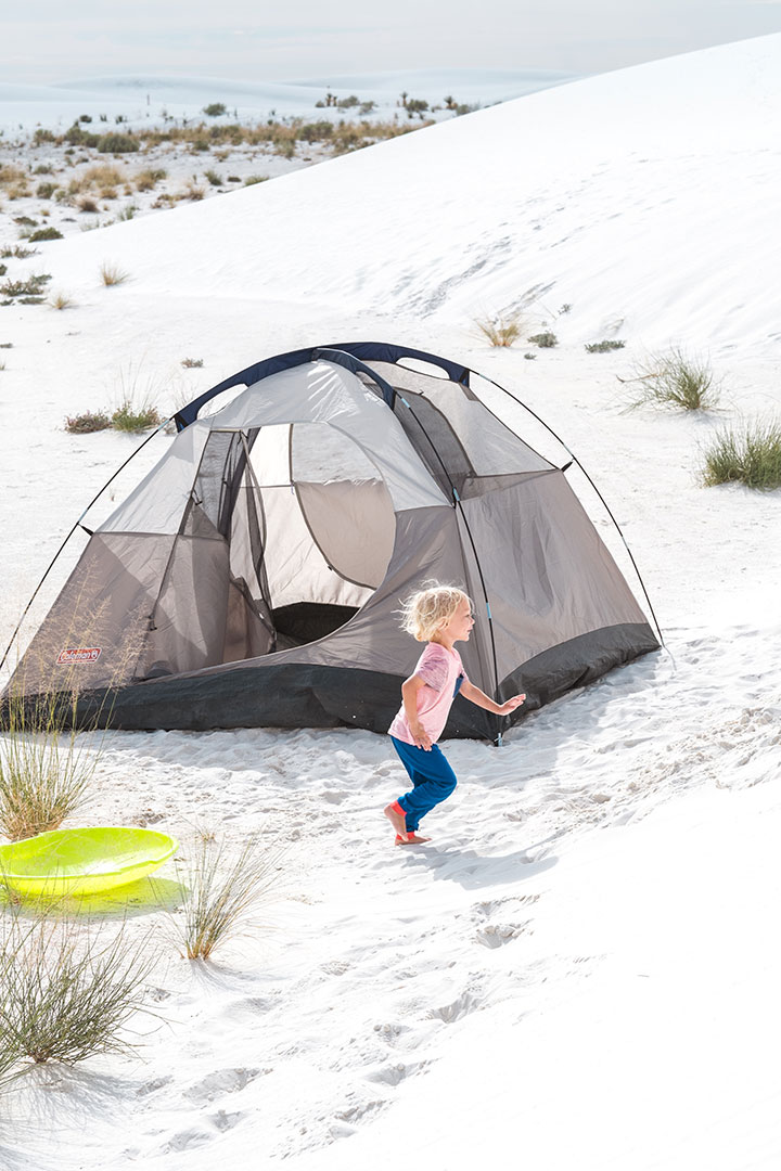 Camping in White Sands National Monument in New Mexico