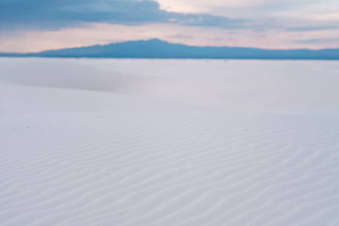 Ripples in the gypsum sand at White Sands National Monument