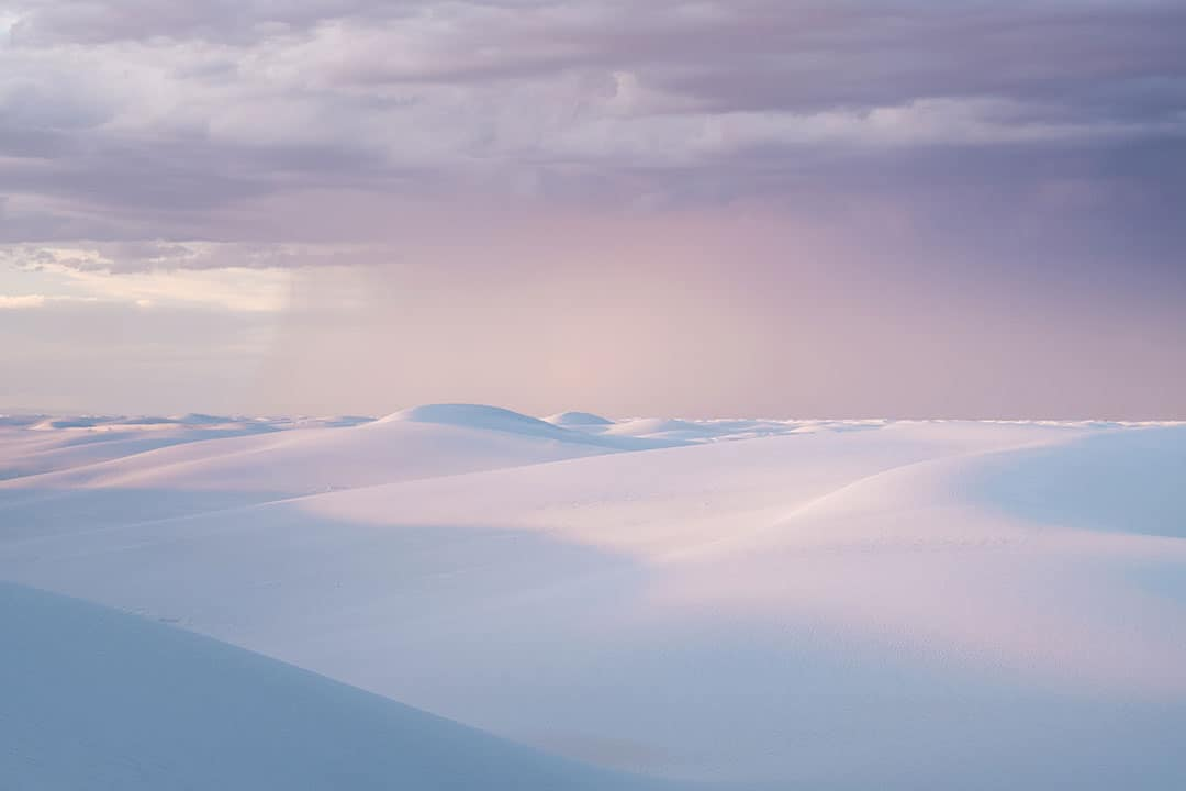 Cotton Candy Skies and Dunes in White Sands National Monument in New Mexico