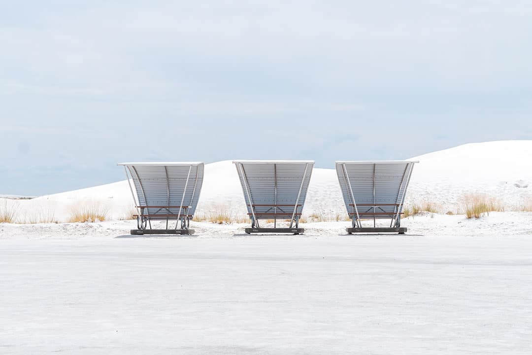 Picnic Areas in White Sands National Monument in New Mexico