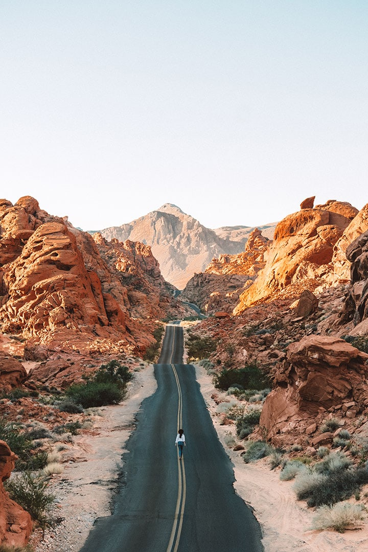 Mouse's Tank Road in Valley of Fire State Park Nevada