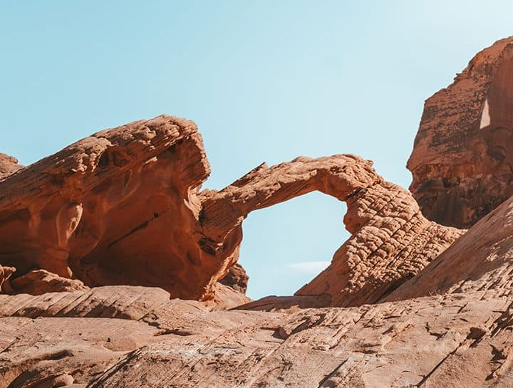 Arch Rock in Valley of Fire State Park Nevada