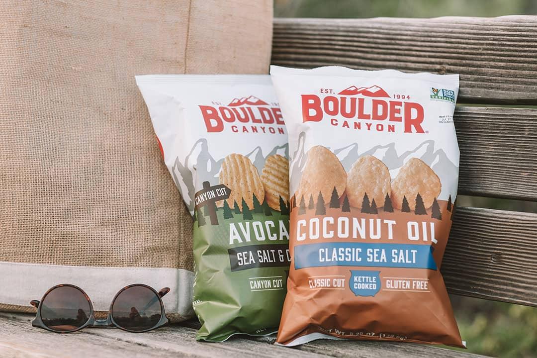 Bags of Boulder Canyon Potato Chips