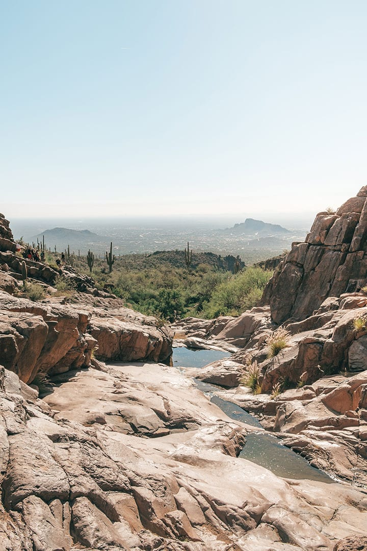 Water pools at the end of Hieroglyphic Trail in Superstition Wilderness