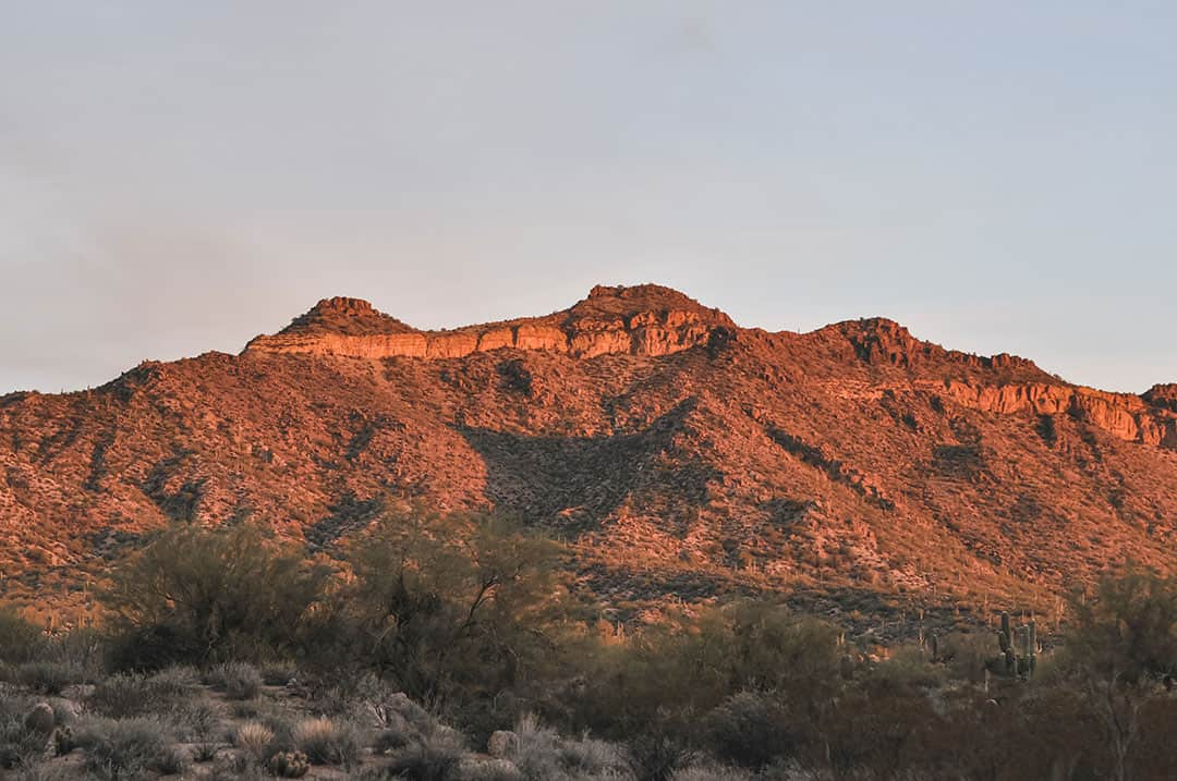 Usery Pass Mountain near Mesa, Arizona