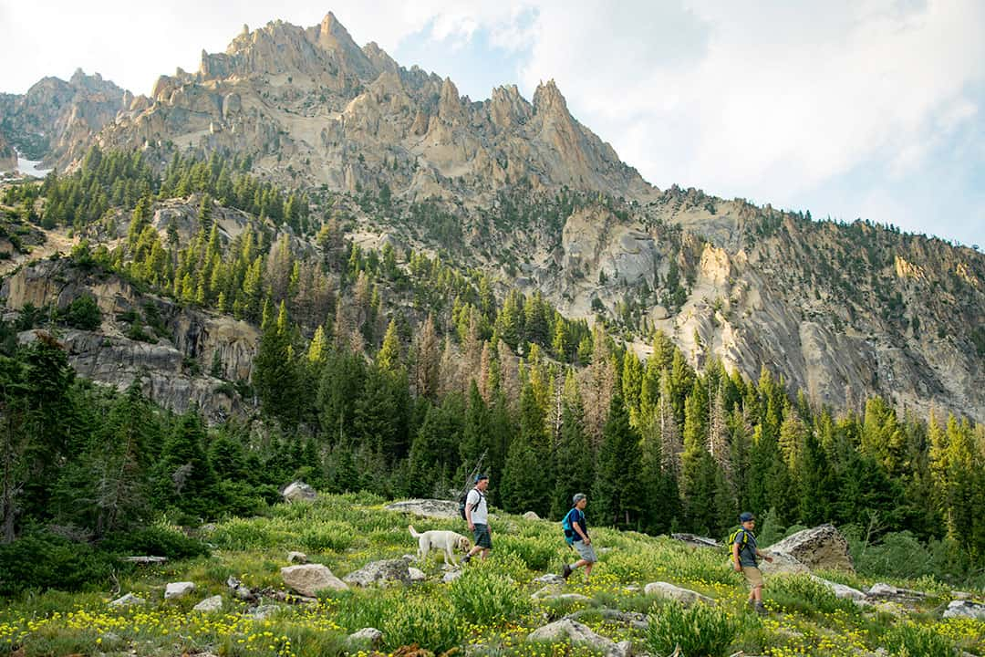 Hiking in the Sawtooth Mountains, Idaho