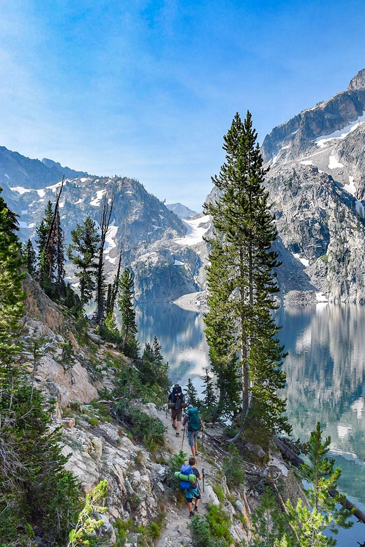 Goat Lake in the Sawtooth mountain Range, Idaho