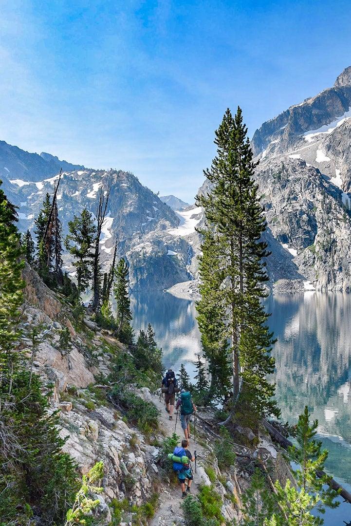 Goat Lake in the Sawtooth mountain Range, Idaho