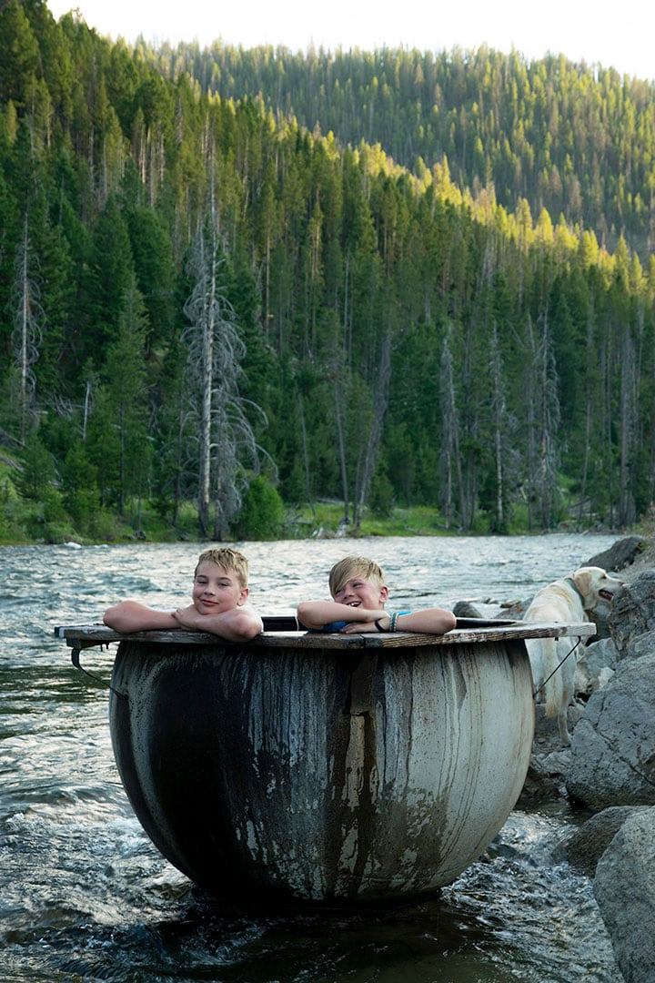 Boat Box Hot Springs in the Sawtooth Wilderness, Idaho