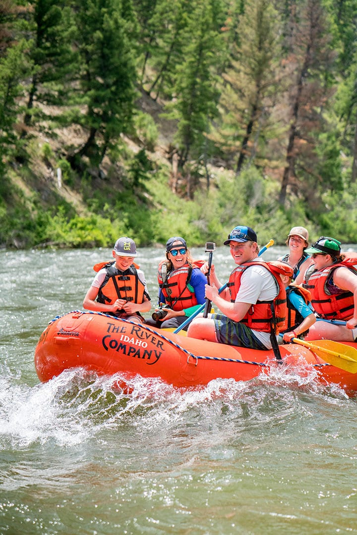 Rafting on the Salmon River in the Sawtooth Mountains, Idaho