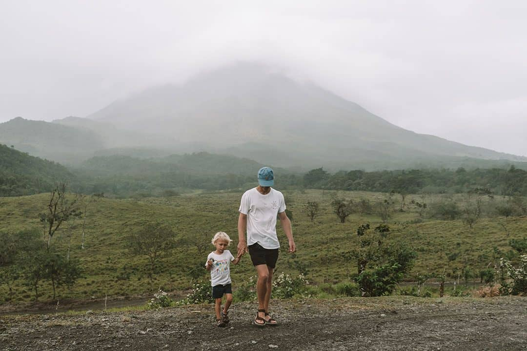 Hiking the 1968 trail with views of Arenal Volcano
