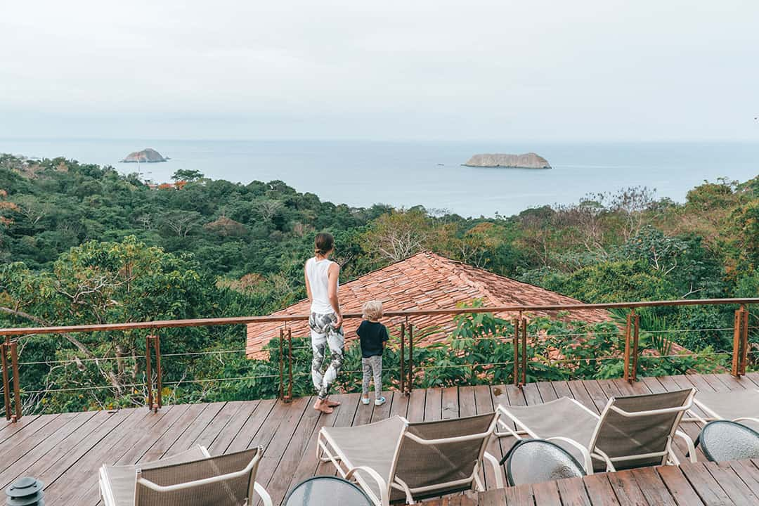 Amazing views from the deck at Si Como No Resort