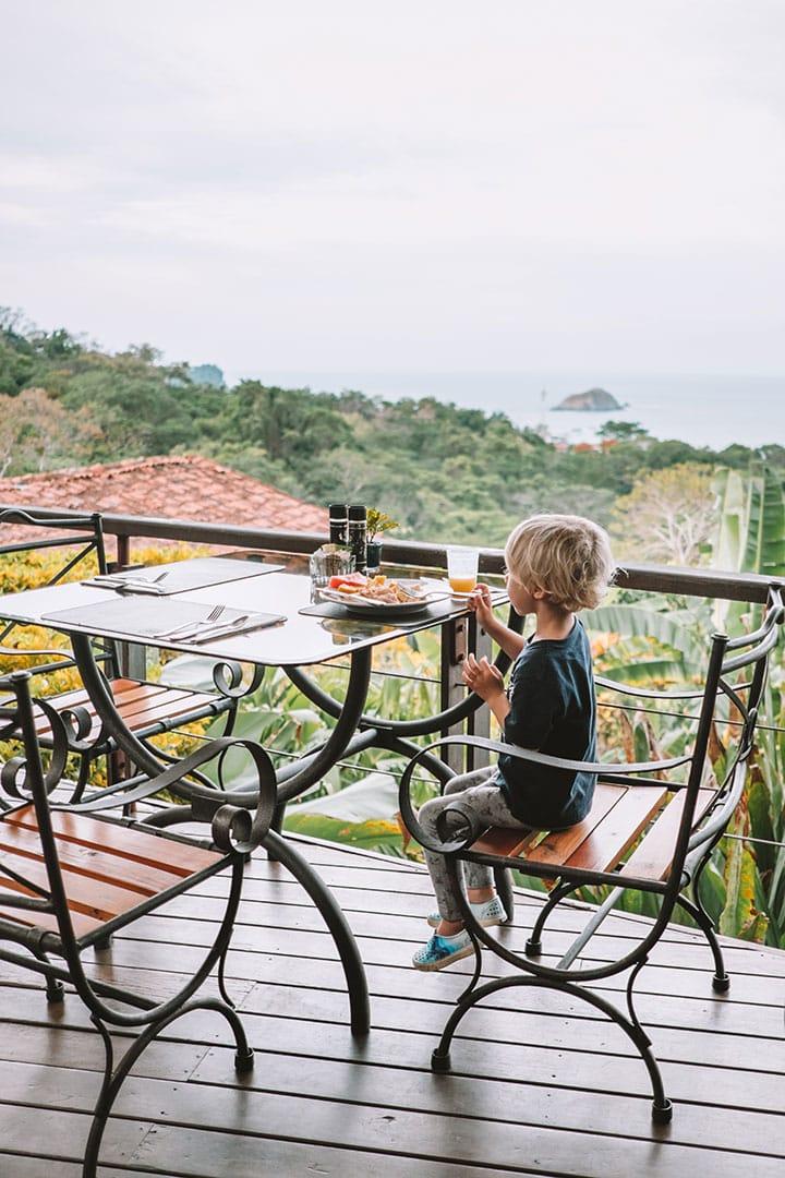 Breakfast views at Si Como No Resort