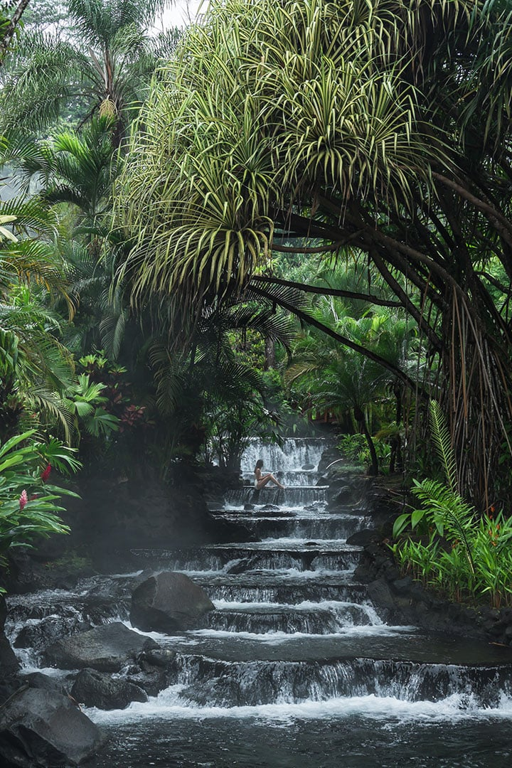 Soaking in the Tabacon Hot Springs in La Fortuna, Costa Rica | 9 Amazing things to do in La Fortuna