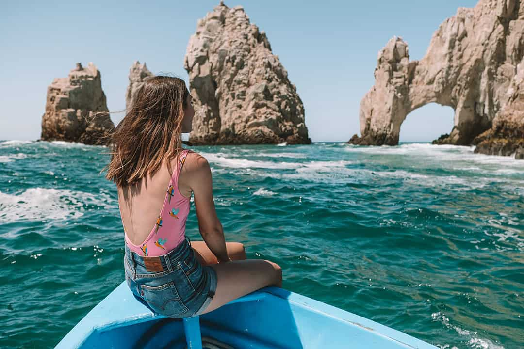 Boat taxi to Lover's Beach in Cabo San Lucas, Mexico