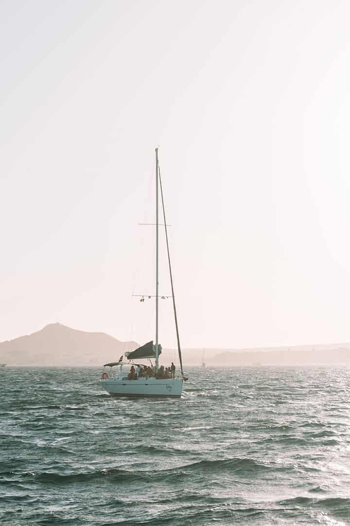 Sailboat in the Sea of Cortez in Cabo San Lucas, Mexico