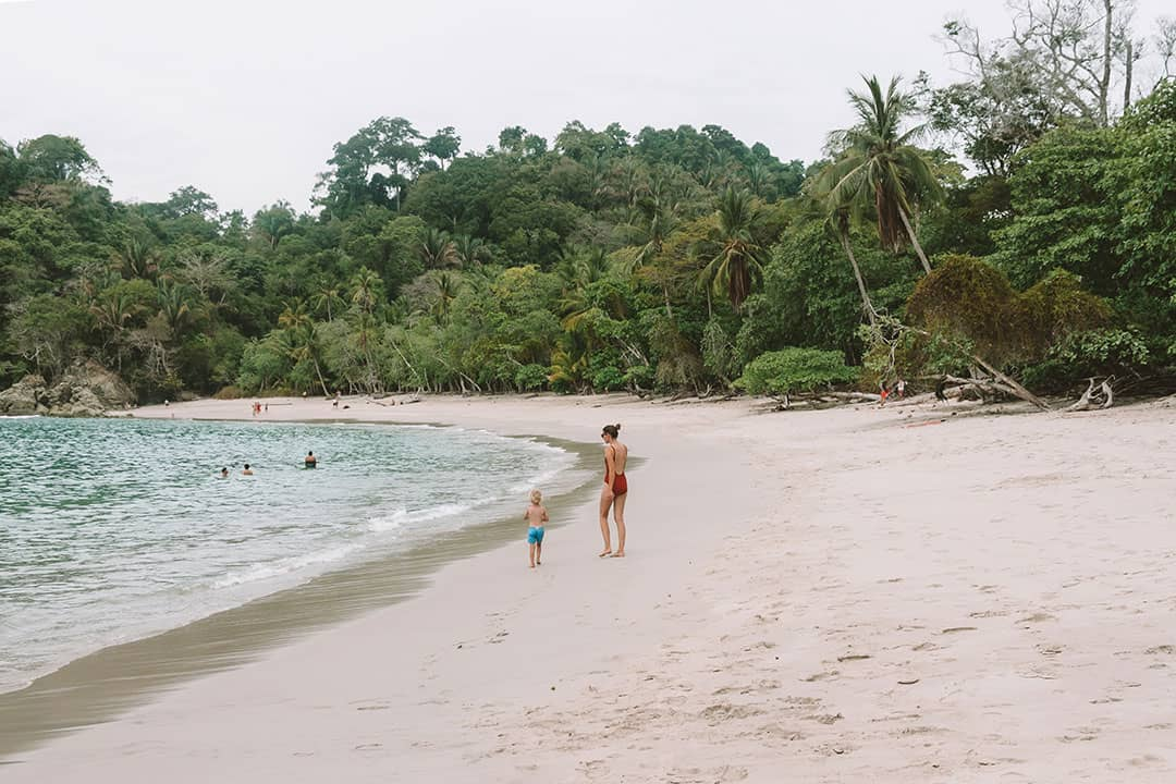 Manuel Antonio Beach inside the national park in Costa Rica
