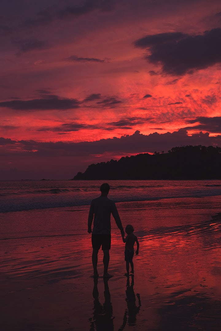 Sunset at Espadilla Beach near Manuel Antonio, Costa Rica