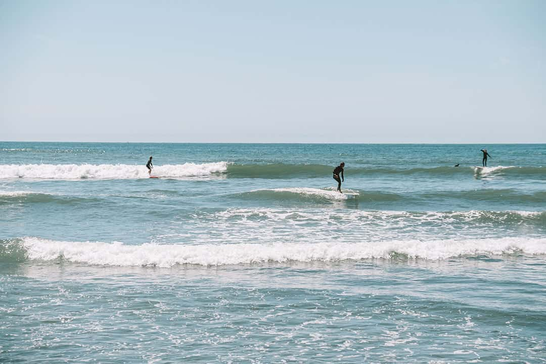 Longboarders at San Onofre