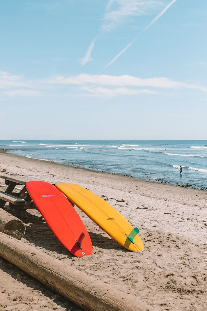 Surfboards on the beach at San Onofre